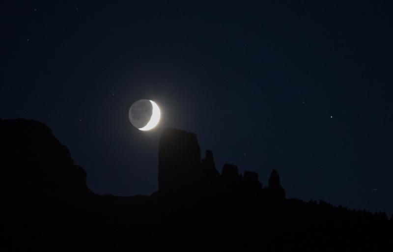 La luna al tramonto