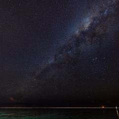The Milky Way in the Indian Ocean.