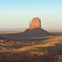 Monument valley, home sickness of a classical evergreen