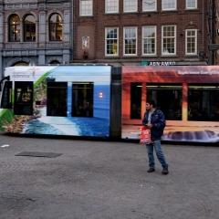 Tram di amsterdam