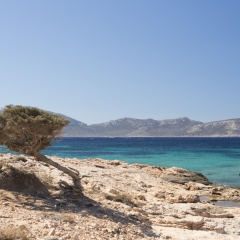 Keros vista dalla costa di Koufunissi