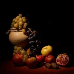 Frutti autunnali (esercizi di still life)